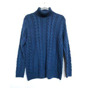 Jeanne Pierre Blue Turtle Neck Sweater